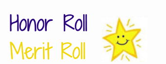 Honor and Merit Roll Students for 1st Marking Period
