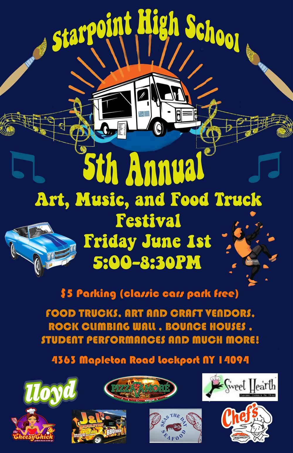 5th Annual Art, Music ad Food Truck Festival