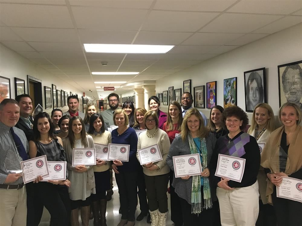 Teachers Receive Certificates for Business First Subject Awards